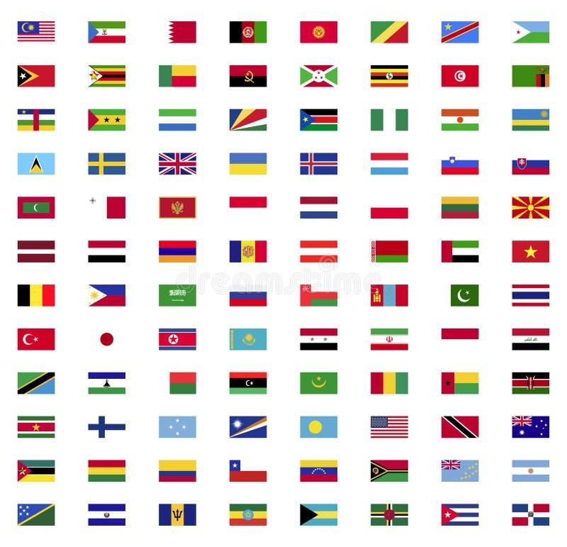 Collection de drapeau du monde illustration stock