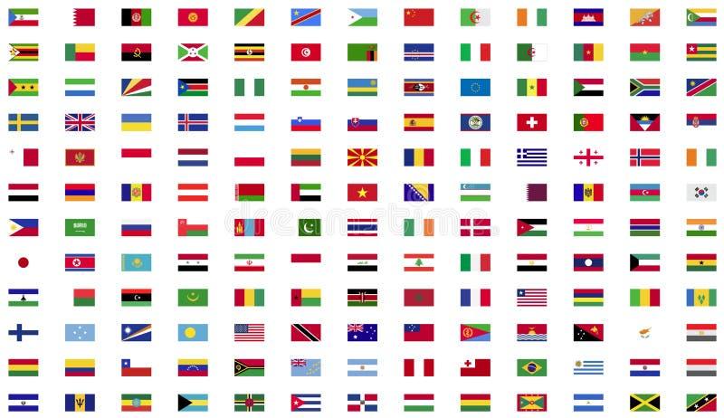 Collection de drapeau du monde illustration libre de droits
