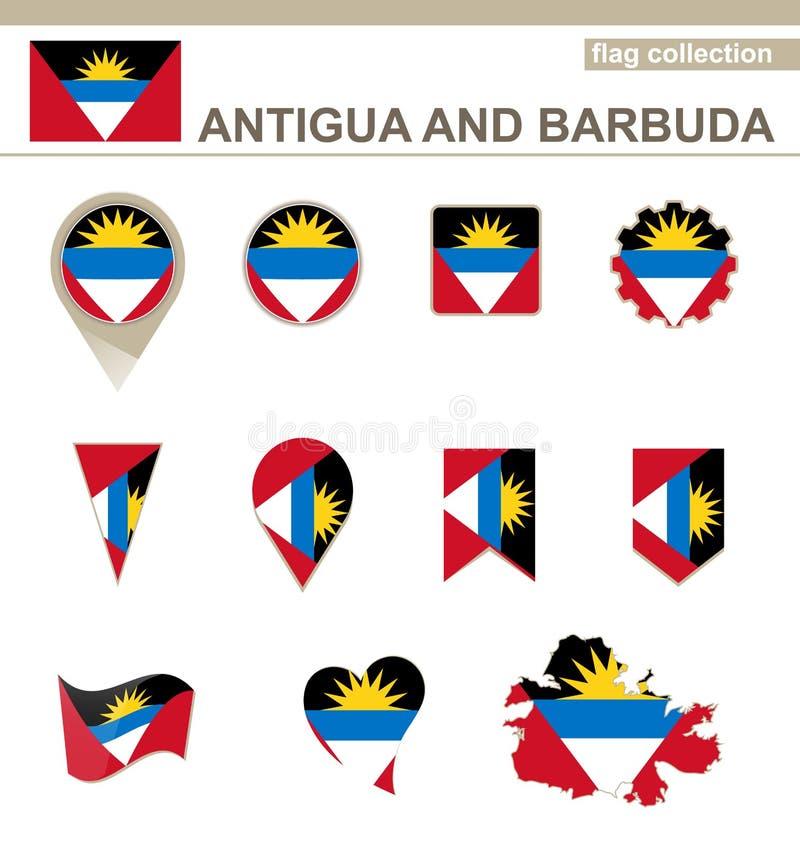 Collection de drapeau de l'Antigua-et-Barbuda illustration de vecteur