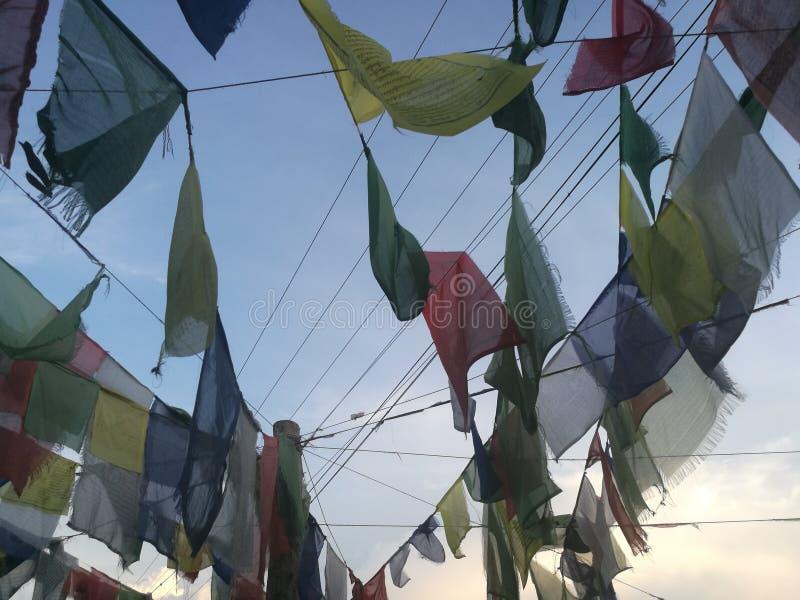 Collection de drapeau de prière du Népal photo libre de droits