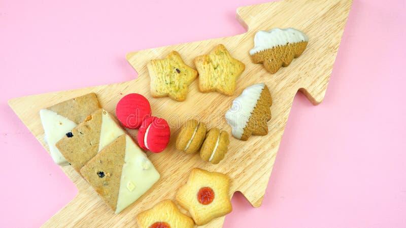 Collection de fête de nourriture traditionnelle de vacances de Noël de style anglais image stock