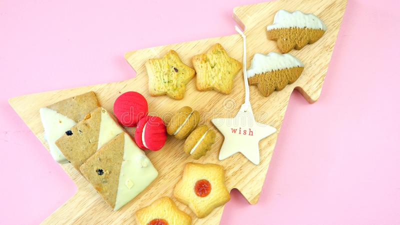 Collection de fête de nourriture traditionnelle de vacances de Noël de style anglais photo stock