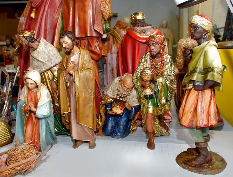 Collection de figurine de nativité photographie stock
