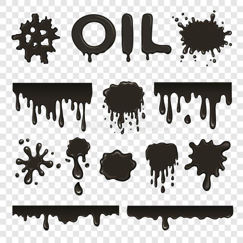 Collection de floc de pétrole ou de pétrole illustration de vecteur