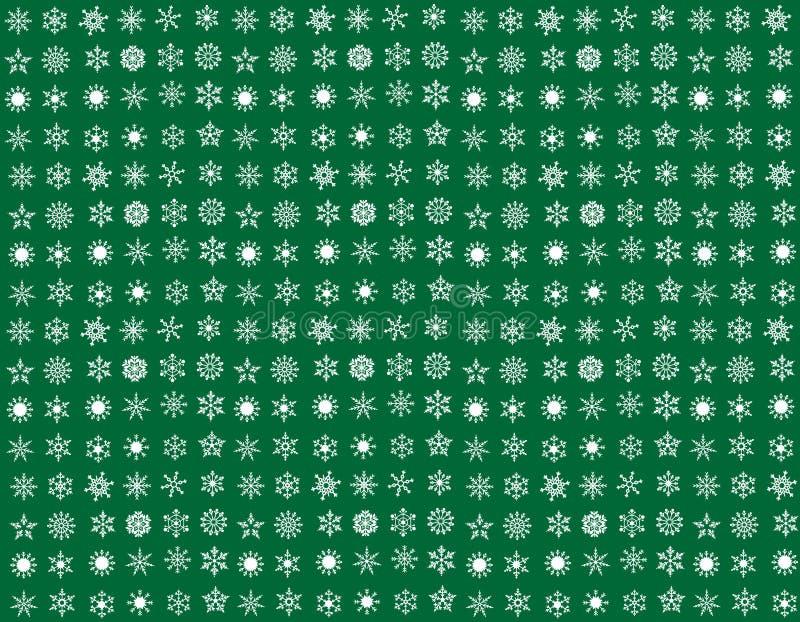 Collection de flocon de neige image stock