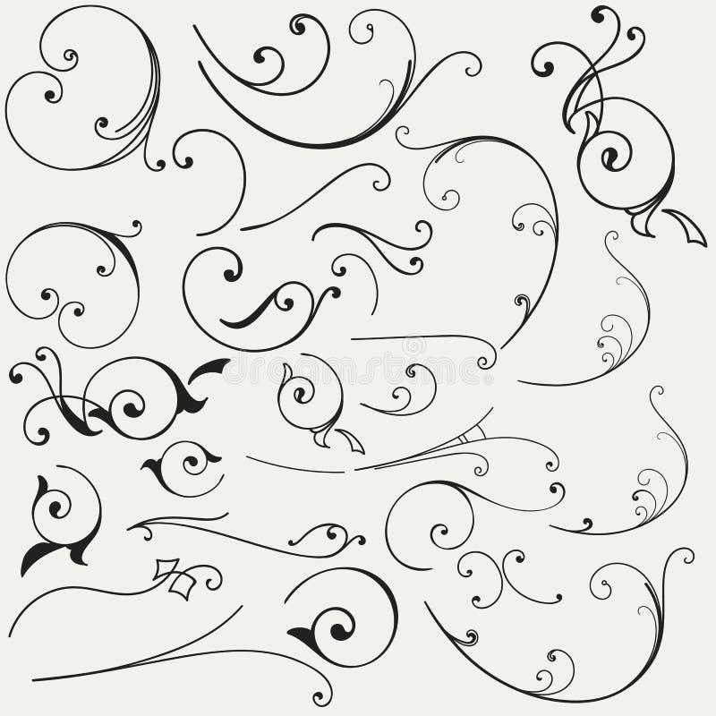 Collection de flourishes de vecteur illustration libre de droits