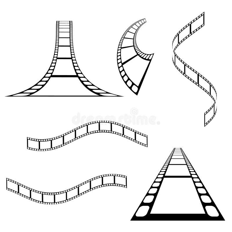 Collection de fond de bande de film de vecteur illustration stock