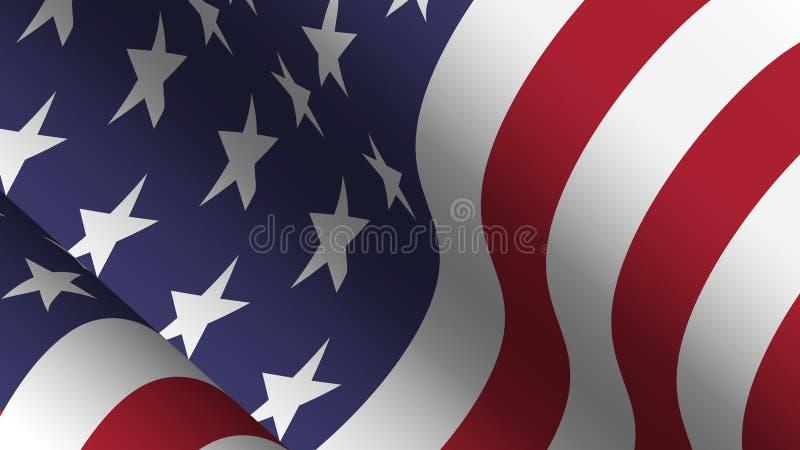 Collection de fond de drapeau de l'Am?rique Conception de ondulation Rapport 16 : 9 4?me du concept de Jour de la D?claration d'I illustration de vecteur