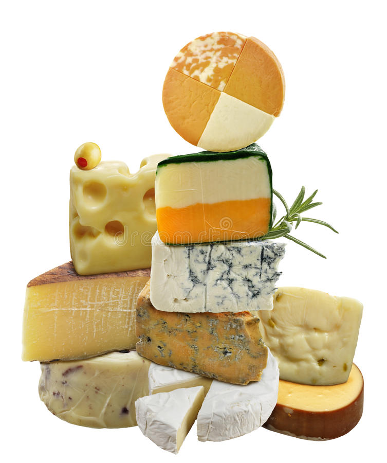 Collection de fromage photo libre de droits