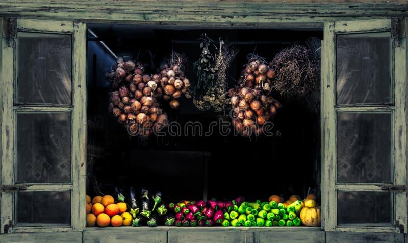 Collection de fruit frais et de légumes images stock