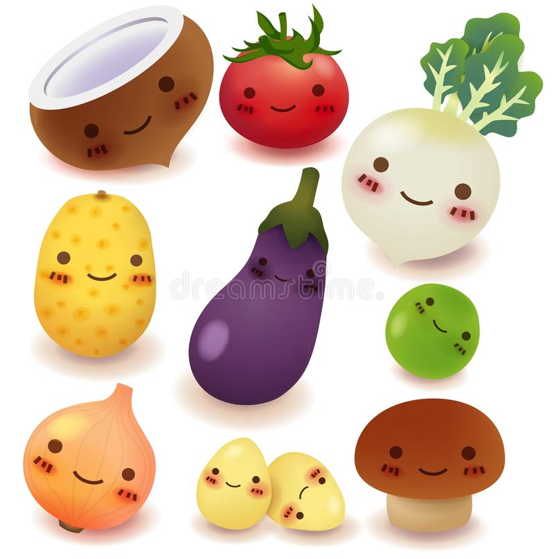 Collection de fruits et légumes image stock