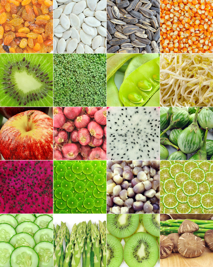 Collection de fruits et légumes photos libres de droits