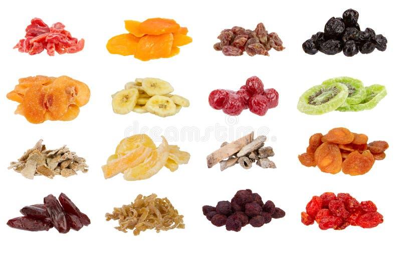 Collection de fruits secs image stock