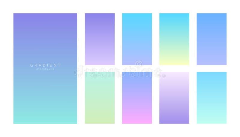 Collection de gradients Écrans de Smartphone avec des couleurs douces illustration libre de droits
