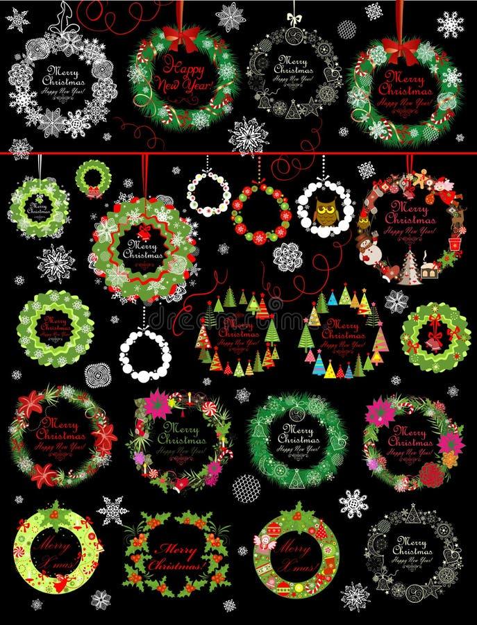 Collection de guirlande de Noël illustration libre de droits