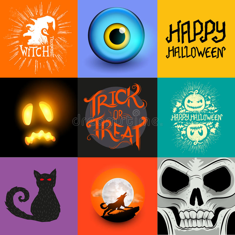 Collection de Halloween de vecteur illustration de vecteur