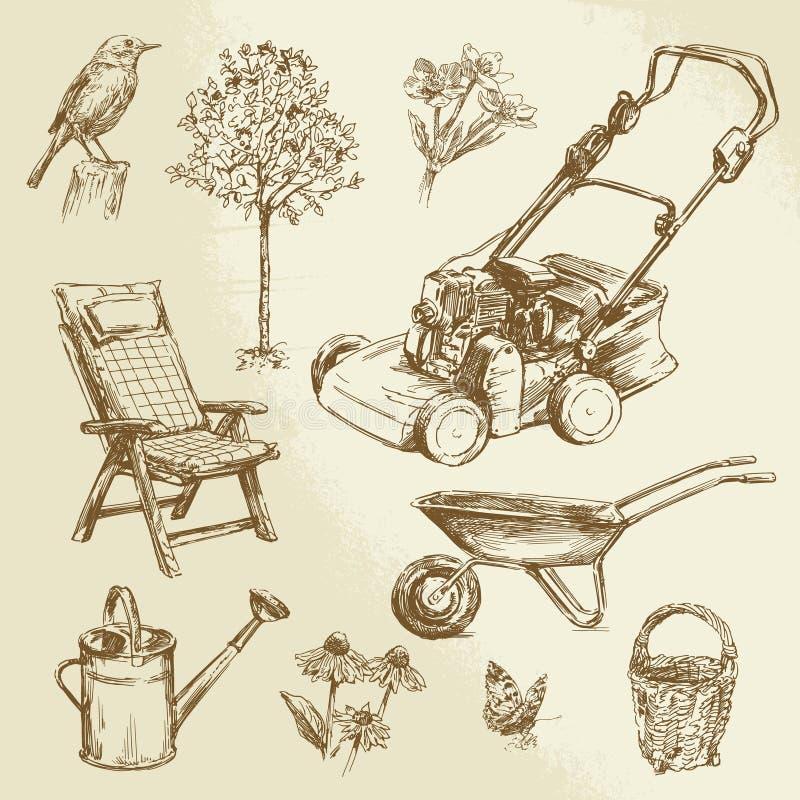 Collection de jardinage illustration de vecteur
