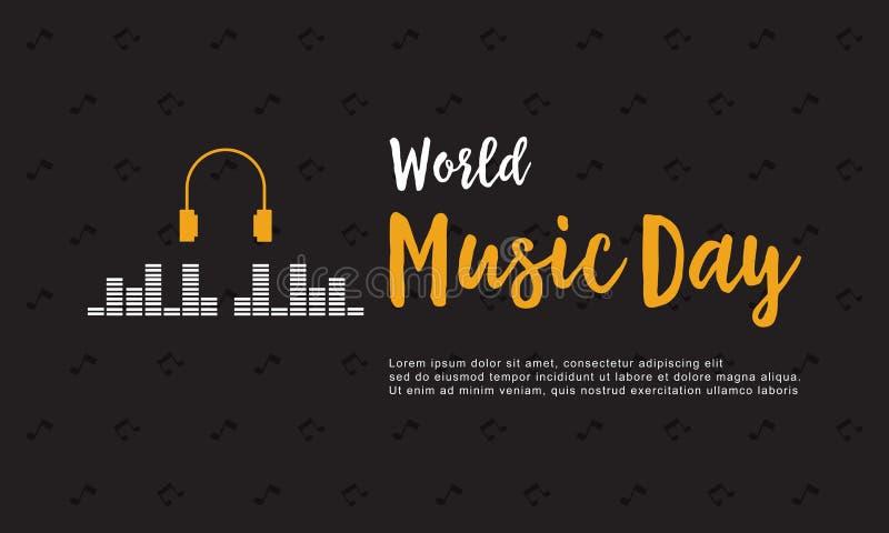 Collection de jour de musique du monde de style de bannière