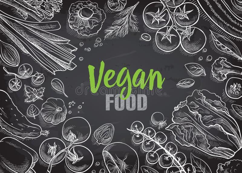 Collection de légumes tirés par la main illustration stock