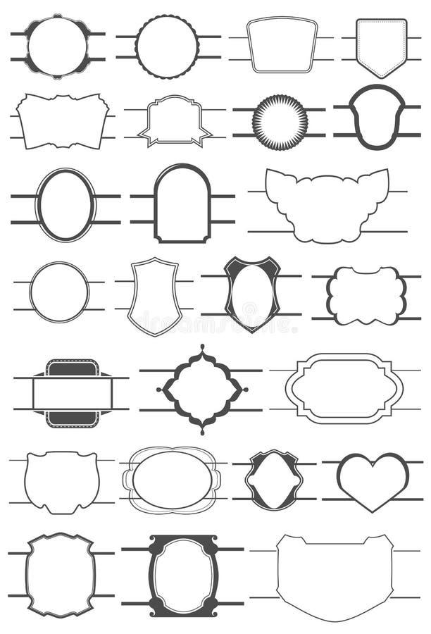 Collection de labels illustration stock