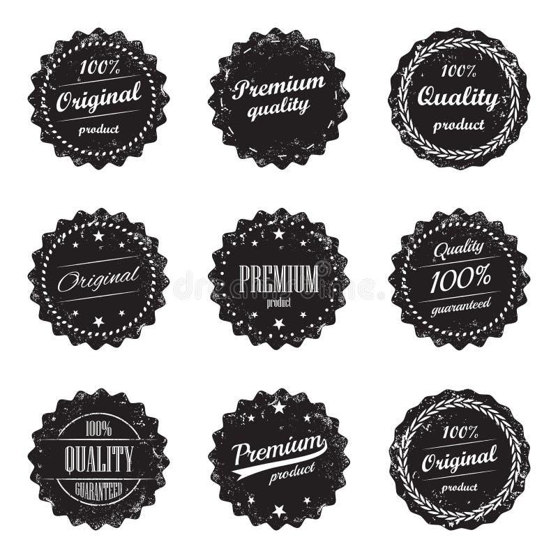 Collection de labels et de signes de produit de vintage - produit de la meilleure qualité de qualité et de dessus illustration de vecteur