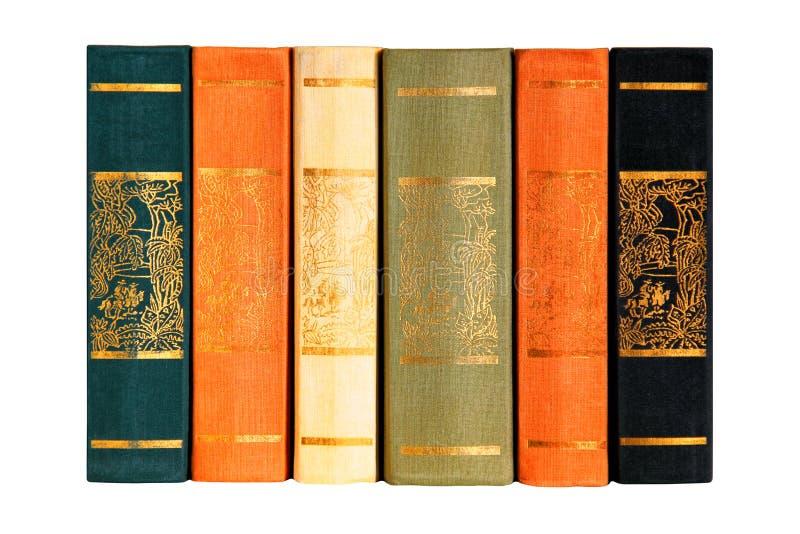 Collection de livres de six volumes photos libres de droits