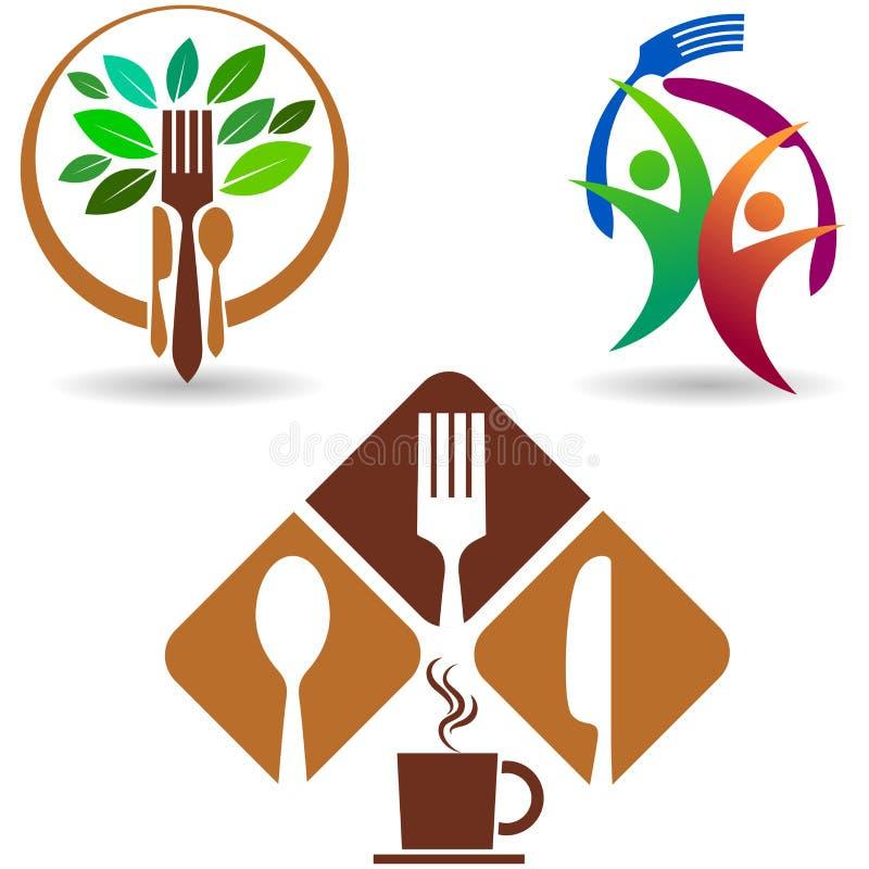 Collection de logo de restaurant illustration stock
