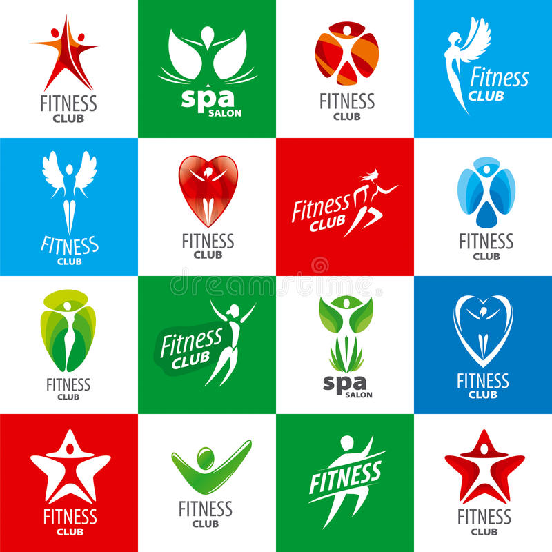 Collection de logos de vecteur pour des centres de fitness illustration de vecteur