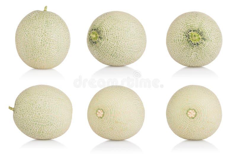 Collection de melon de cantaloup sur le fond blanc Avec le chemin de coupure photo stock