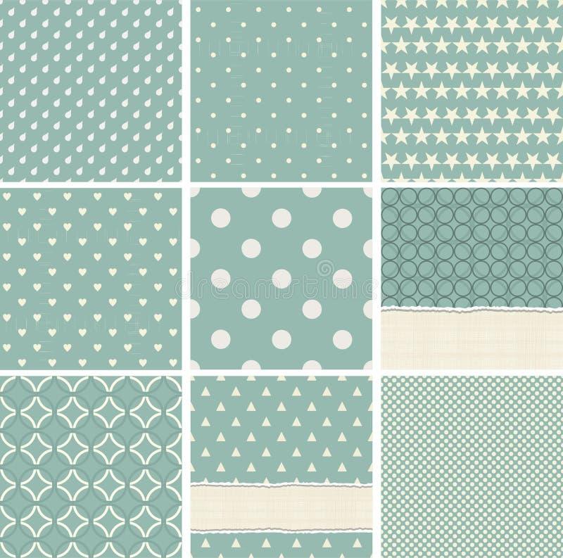 Collection de modèle de points sans couture de polka illustration libre de droits