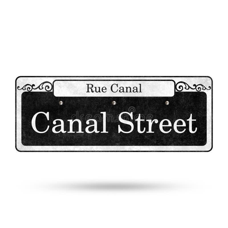 Collection de nom de rue de quartier français de plaques de rue de la Nouvelle-Orléans illustration libre de droits
