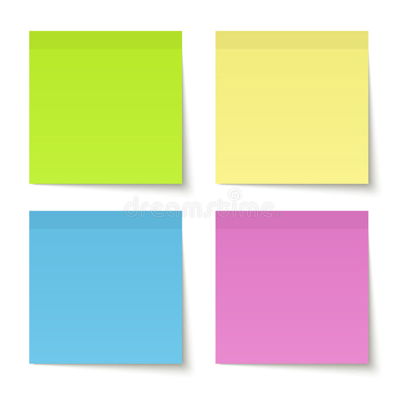 Collection de notes adhésives colorées illustration stock