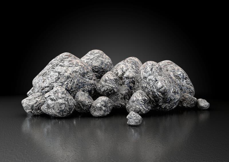 Collection de pépite de minerai de fer illustration de vecteur