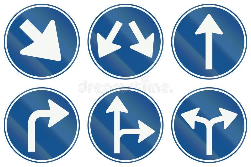Collection de panneaux routiers de réglementation néerlandais illustration stock