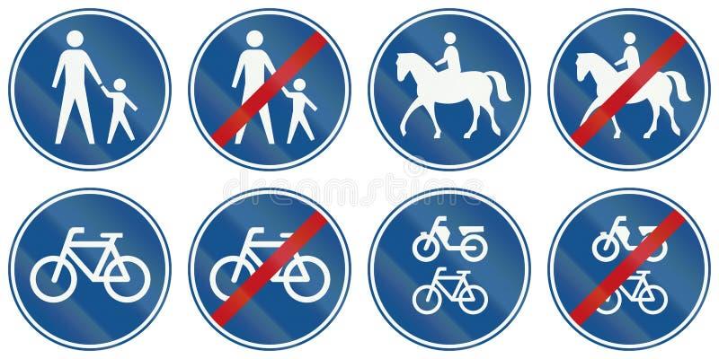 Collection de panneaux routiers de réglementation néerlandais illustration libre de droits