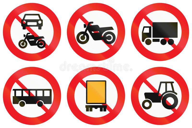 Download Collection De Panneaux Routiers Utilisés Au Danemark Illustration Stock - Illustration du fret, prohibition: 77160477