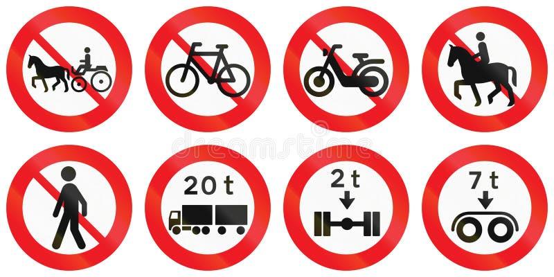 Download Collection De Panneaux Routiers Utilisés Au Danemark Illustration Stock - Illustration du denmark, règlement: 77161222