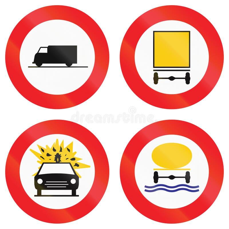 Download Collection De Panneaux Routiers Utilisés En Belgique Illustration Stock - Illustration du risqué, incendie: 77151818
