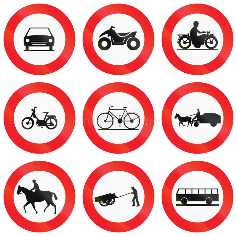 Download Collection De Panneaux Routiers Utilisés En Belgique Illustration Stock - Illustration du belgium, fermier: 77153070