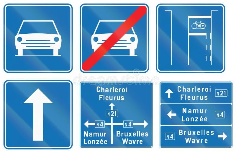 Download Collection De Panneaux Routiers Utilisés En Belgique Illustration Stock - Illustration du ahead, bleu: 77157192