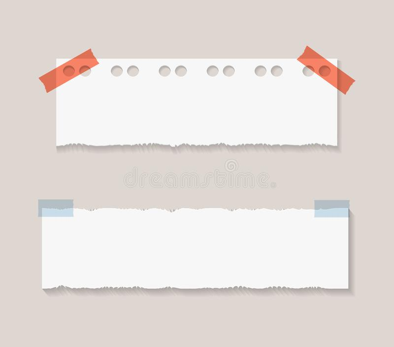 Collection de papier de morceaux de vecteur, autocollants réalistes de note illustration libre de droits