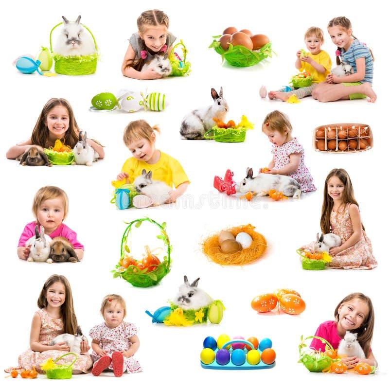 Collection de photo de Pâques d'enfants image stock