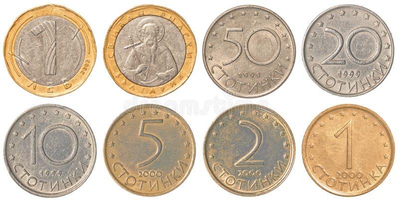 collection de pi ces de monnaie de lev de bulgare photo stock image 58579280. Black Bedroom Furniture Sets. Home Design Ideas