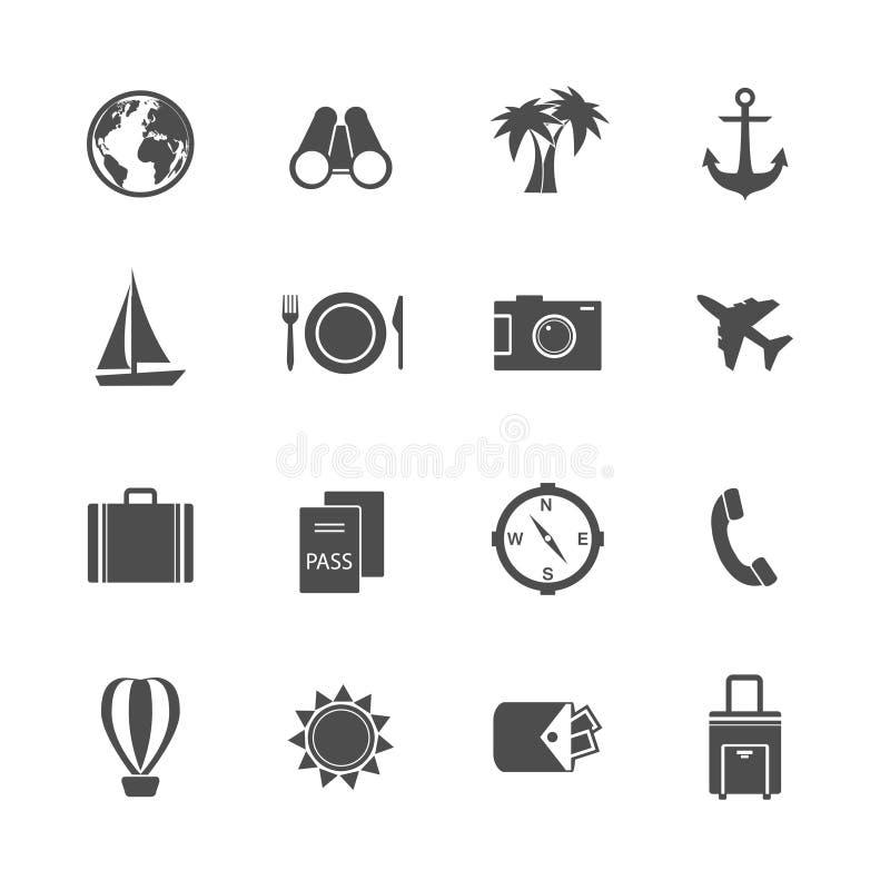 Collection de pictogrammes de vacances de vacances illustration de vecteur