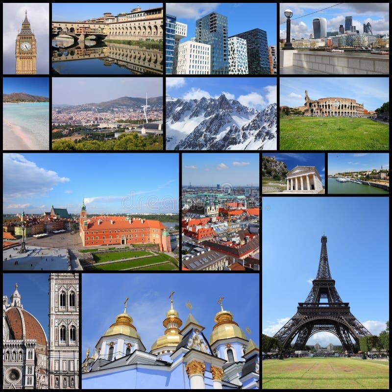 Collection de points de repère de l'Europe photos libres de droits