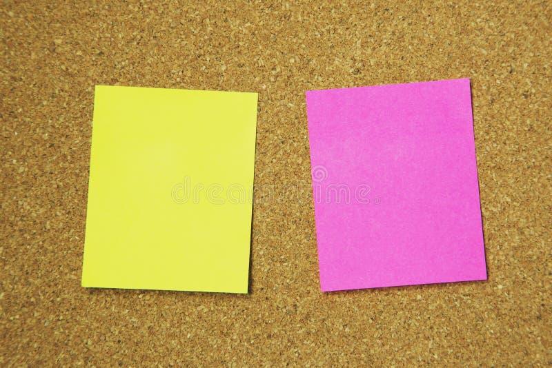 Collection de post-it color? de vari?t? notes collantes de rappel de papier de note photo libre de droits