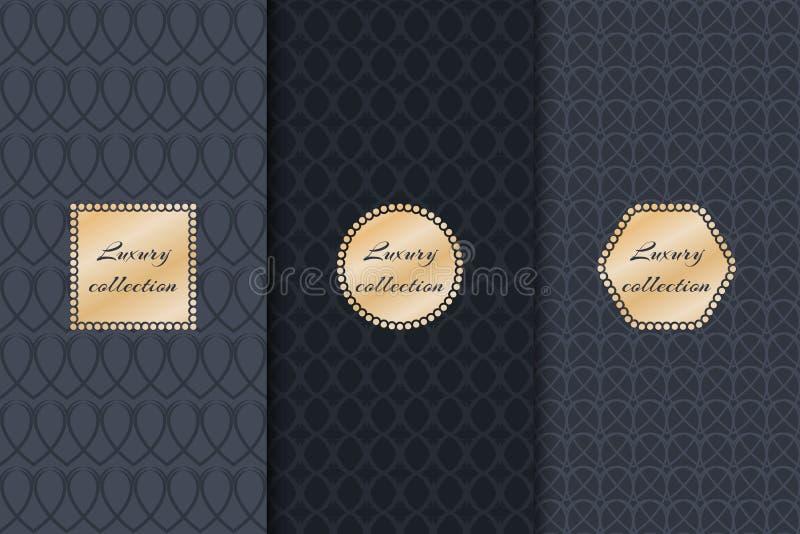 Collection de produit de luxe de milieux illustration de vecteur