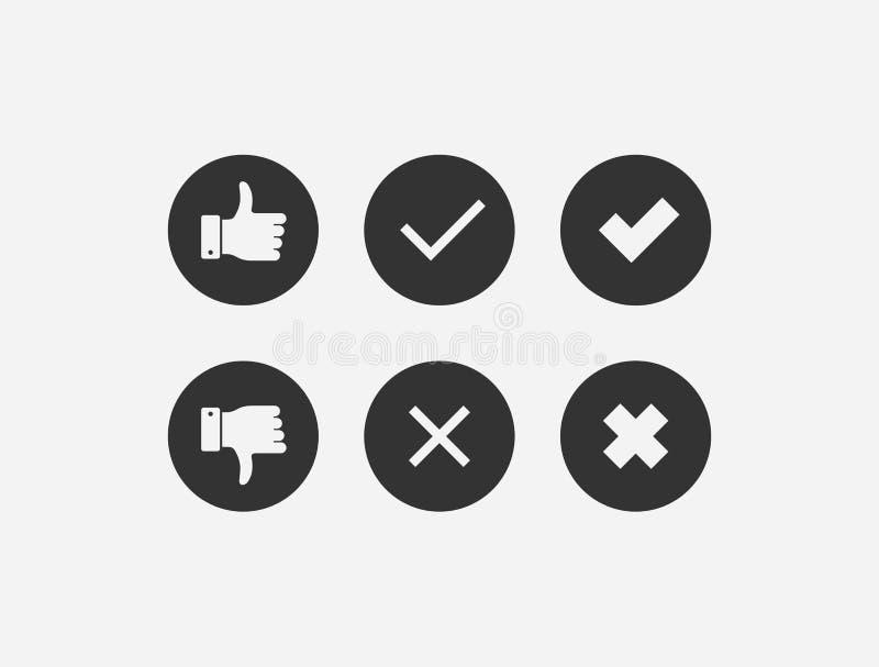 Collection de rétroaction positive et négative illustration stock