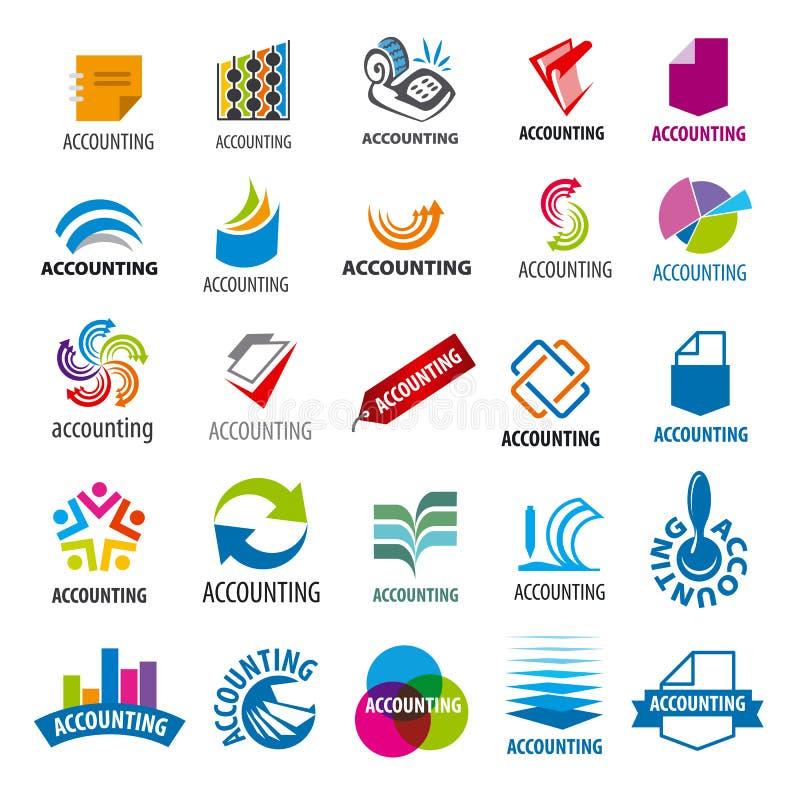 Collection de rapport de comptabilité de logos de vecteur illustration de vecteur