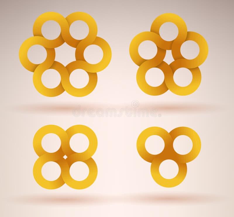 Collection de rubans de intersection illustration libre de droits